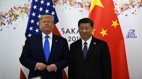 Le président chinois Xi Jinping et le président américain Donald Trump. Osaka le 29 juin 2019.