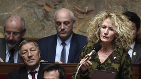 Martine Wonner, députée de La République en marche (LREM), s'exprime lors d'une séance de questions au gouvernement à l'Assemblée nationale à Paris, le 14 novembre 2017 (image d'illustration).