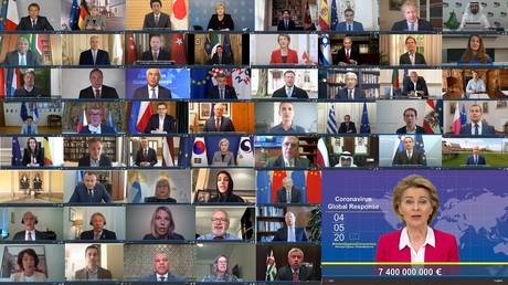 Le Covidthon de l'UE et de l'OMS recueille 7,4 milliards d'euros, les Etats-Unis font cavalier seul