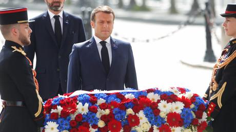 Emmanuel Macron et Edouard Philippe le 8 mai 2020 à Paris.
