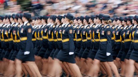 Parade militaire célébrant le Jour de la Victoire à Minsk, le 9 mai 2020.