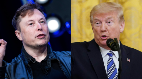 Elon Mask (9 mai 2020) et Donald Trump (28 avril 2020).