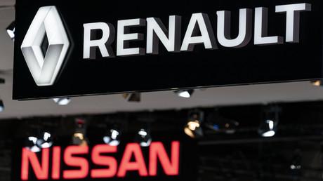 Logos de Renault et Nissan à un salon automobile, Bruxelles janvier 2020 (image d'illustration).