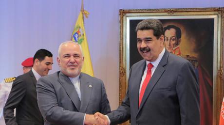 Le ministre iranien des Affaires étrangères, Mohammad Javad Zarif, rencontre Nicolas Maduro en 2019 (image d'illustration).