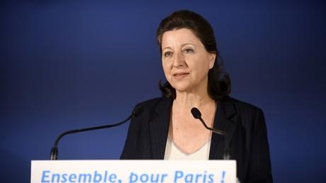 Agnès Buzyn, candidate du parti au pouvoir LREM aux élections municipales de Paris 2020 le 15 mars 2020 (image d'illustration).