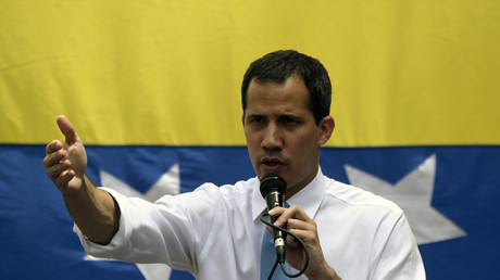 Juan Guaido, l'opposant à Nicolas Maduro, à Las Mercedes, dans l'est de Caracas, le 10 mars 2020.