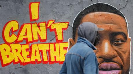 Un graffiti en hommage à George Floyd, à Berlin (Image d'illustration).