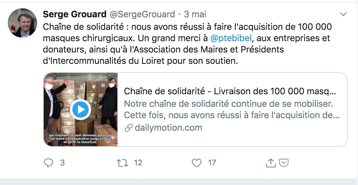 Le candidat LR à la mairie d'Orléans a-t-il mené campagne... en offrant 80 000 masques ?