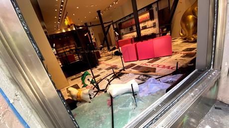 Boutique vandalisée à New York.
