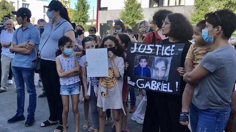 Rassemblement en soutien à Gabriel Jovanovic, le 1er juin 2020, à Bondy, en Seine-Saint-Denis.
