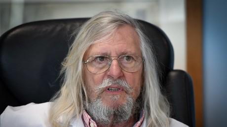 Le professeur français Didier Raoult, biologiste et professeur de microbiologie, spécialiste des maladies infectieuses et directeur de l'Institut des infections de l'IHU Méditerranée, le 26 février 2020.