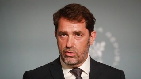 Le ministre de l'Intérieur, Christophe Castaner, en conférence de presse, le 27 mai 2020.