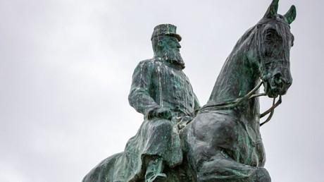 Statue du roi Léopold II de Belgique à Ostende, en Belgique flamande