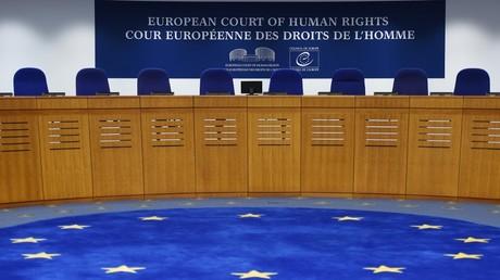 Cliché pris dans l'enceinte de la Cour européenne des droits de l'homme, le 7 février 2019, à Strasbourg (image d'illustration).