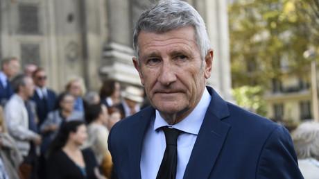 Philippe de Villiers aux obsèques du comédien Jean Piat en septembre 2018 à Paris (image d'illustration).