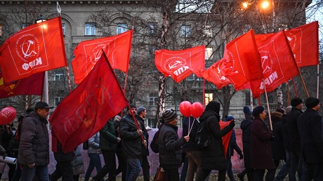Des militants communistes, Novossibirsk, Russie