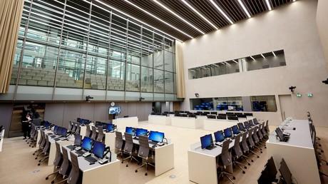 La salle d'audience de la Cour pénale internationale, le 23novembre 2015, à LaHaye aux Pays-Bas (image d'illustration).