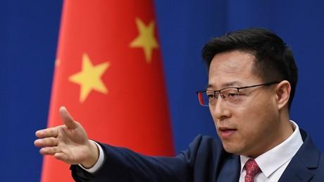 Le ministre chinois des Affaires étrangères, Zhao Lijian à Pékin le 8 avril 2020. (Image d'illustration).