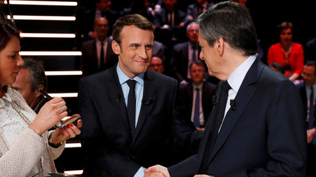 Emmanuel Macron et François Fillon lors de la campagne présidentielle de 2017 (image d'illustration).
