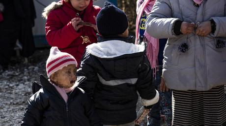 Des enfants orphelins dans le camp kurde de al-Hol en Syrie, en 2019 (image d'illustration).