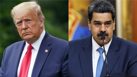 A gauche, Donald Trump, à droite Nicolas Maduro (photomontage d'illustration).