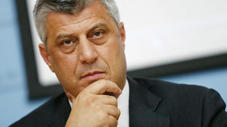 Le Premier ministre kosovar Hashim Thaci lors d'une conférence de presse du Groupe directeur international pour le Kosovo à Vienne, le 2 juillet 2012. (image d'illustration)