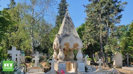 Le mémorial aux émigrés russes participants de la Résistance, à Sainte-Genevieve-des-Bois