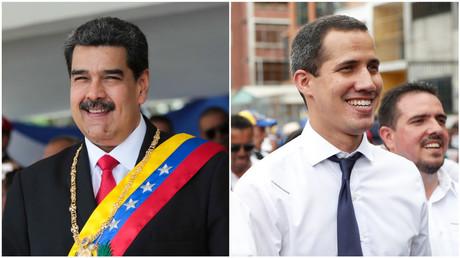Photomontage avec Nicolas Maduro à gauche et Juan Guaido à droite. (image d'illustration)