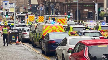 Photo prise non loin de l'attaque à Glasgow, le 26juin 2020.