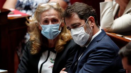 Nicole Belloubet et Christophe Castaner à l'Assemblée nationale pour la séance des questions au gouvernement le 23 juin 2020 (image d'illustration).