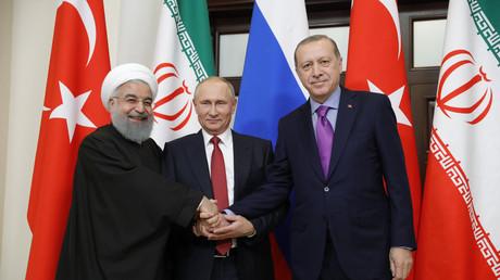 Hassan Rohani, Vladimir Poutine et Recep Tayyip Erdogan (de gauche à droite, image d'illustration, 2017)