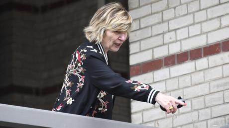 Mimi Marchand en pleine campagne présidentielle d'Emmanuel Macron, le 22 avril 2017 au Touquet (image d'illustration).