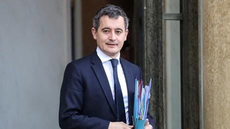Le ministre de l'Action et des Comptes publics Gérald Darmanin photographié à la sortie du Palais de l'Elysée le 26 février 2020 (illustration).