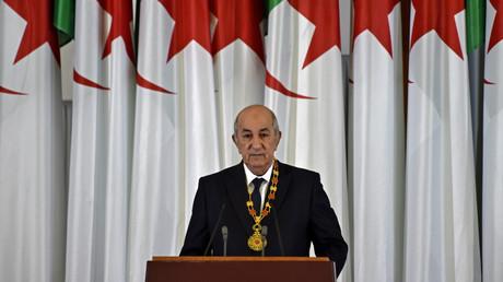 Le président algérien Abdelmadjid Tebboune à Alger, le 19 décembre 2019.