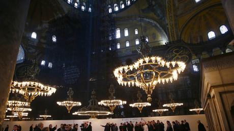 Le pape François visite le musée Sainte-Sophie à Istanbul le 29 novembre 2014. (Image d'illustration).