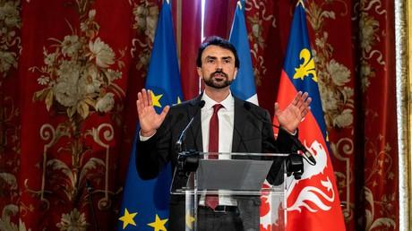 Grégory Doucet le 4 juillet 2020 à la mairie de Lyon.