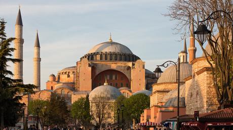 La basilique Sainte-Sophie à Istanbul, Turquie