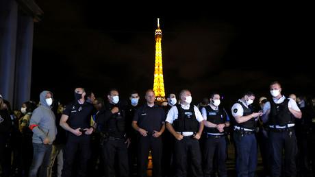 Rassemblement de policiers en colère le 14 juin 2020 sur la place du Trocadéro à Paris  (image d'illustration).