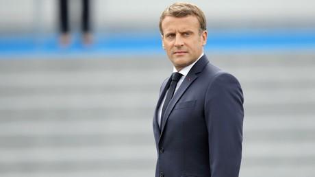 Emmanuel Macron lors du défilé du 14 juillet, à Paris, le 14 juillet 2020 (image d'illustration).