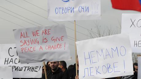 Manifestation au Kosovo en 2018 (image d'illustration).
