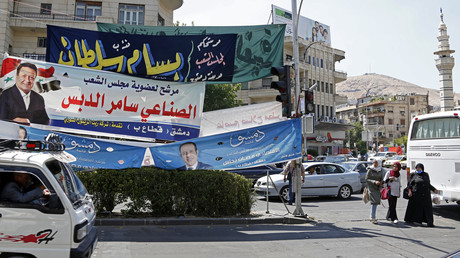 Photographie prise à Damas le 15 juillet 2020, à l'approche d'élections législatives (image d'illustration).