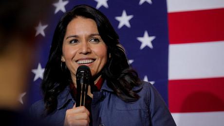 La représentante démocrate Tulsi Gabbard dans le New Hampshire (Etats-Unis), le 6 février 2020.