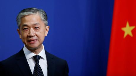 Le porte-parole de la diplomatie chinosie, Wang Wenbin, le 17 juillet 2020 (image d'illustration).