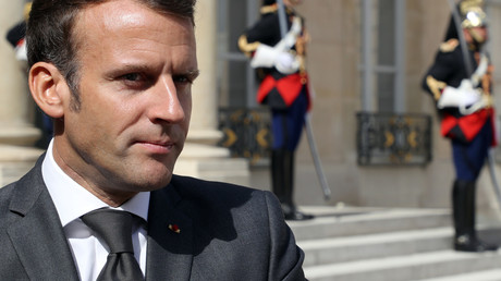 Le président français Emmanuel Macron à l'Elysée, le 23 juillet.
