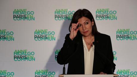Anne Hidalgo, pendant la campagne des municipales, le 15 mars 2020 (image d'illustration).