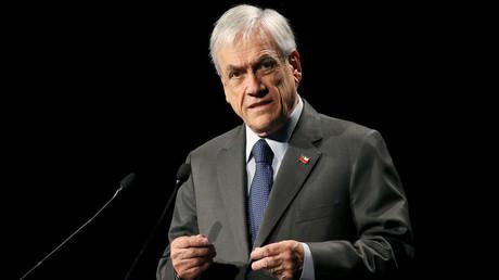 Le président chilien, Sebastian Piñera, lors d'un discours à Santiago, le 29 janvier 2020 (image d'illustration).