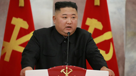 Cliché non daté de Kim Jong-un mis en ligne le 27 juillet 2020 par l'agence KNCA (image d'illustration).