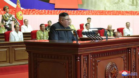 Kim Jong-un lors des cérémonies du 67e anniversaire de l'armistice de la guerre de Corée, le 27 juillet 2020, à Pyongyang (image d'illustration).
