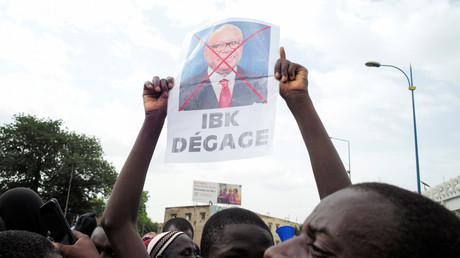 A Bamako, lors d'une manifestation pour réclamer la démission du président malien IBK en juin 2020 (image d'illustration).