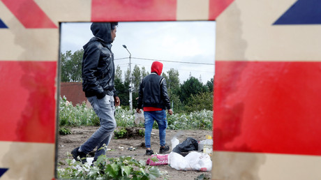 Camp de migrants le 10 juillet à Calais (image d'illustration).